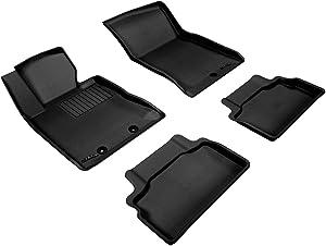 3D MAXpider Complete Set Custom Fit All-Weather Floor Mat for Select Hyundai Genesis Models - Kagu Rubber (Black)