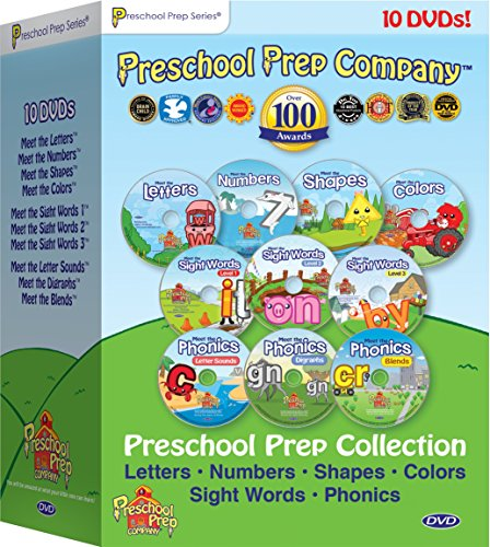 Preschool Prep Series Collection - 10 DVD Boxed Set (Meet the Letters, Meet the Numbers, Meet the Shapes, Meet the Colors, Meet the Sight Words 1, 2 & 3, Meet the Phonics - Letter Sounds, Digraphs & Blends ()