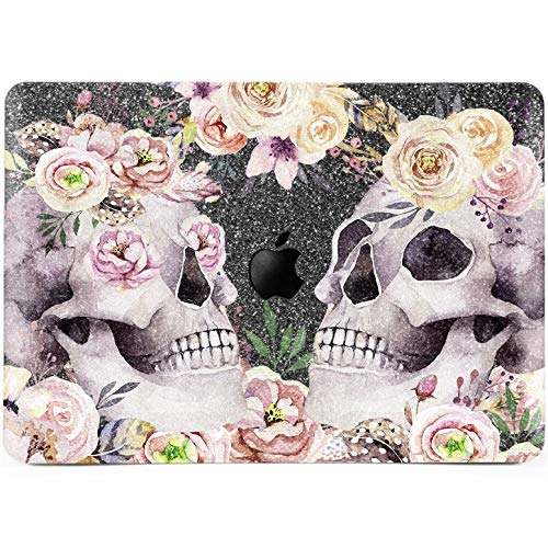 Lex Altern Glitter MacBook Case Pro 15 inch Air 13 11 12 Pink Peony Hard Gray Bling Floral 2018 2017 Flower Sparkly Mac Skulls Retina Boho Shiny Matte Cover Apple 2016 Women Print Roses Floral Gift