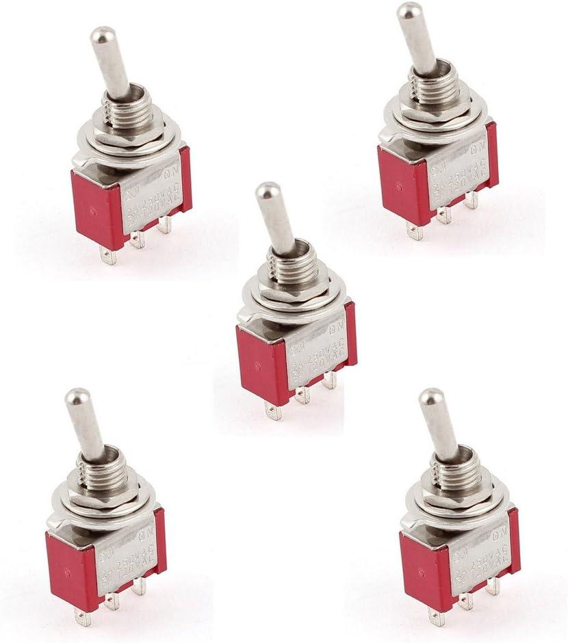 EHAO CA 250V / 2A 120V / 5A ENCENDIDO / ENCENDIDO Posición 2 SPDT Interruptor de Mini Micro (5 pedazos)