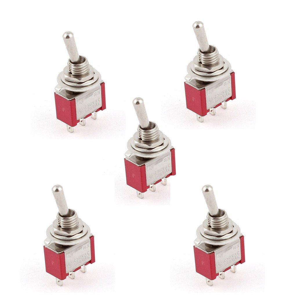 EHAO CA 250V / 2A 120V / 5A ENCENDIDO / ENCENDIDO Posició n 2 SPDT Interruptor de Mini Micro (5 pedazos) Yellow River AC 250V/2A 120V/5A ON
