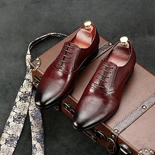 A Y Los para De Zapatos Hombres Zapatos con Otoño De Vestir Acentuados Red Negocios Ayudar Británicos Los Primavera De Bajos De wAqYaA7