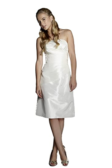 Tiffanys Yvonne Strapless Ivory Cocktail Dress UK 8 (US 4)