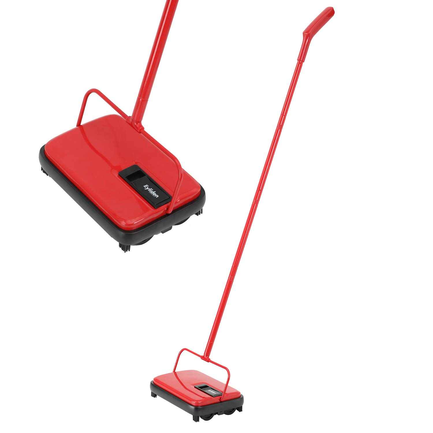 E.yliden Red and Black Handy Floor Carpet Sweeper Lightweight Compact Durable and Easy to Store New Choice by E.yliden