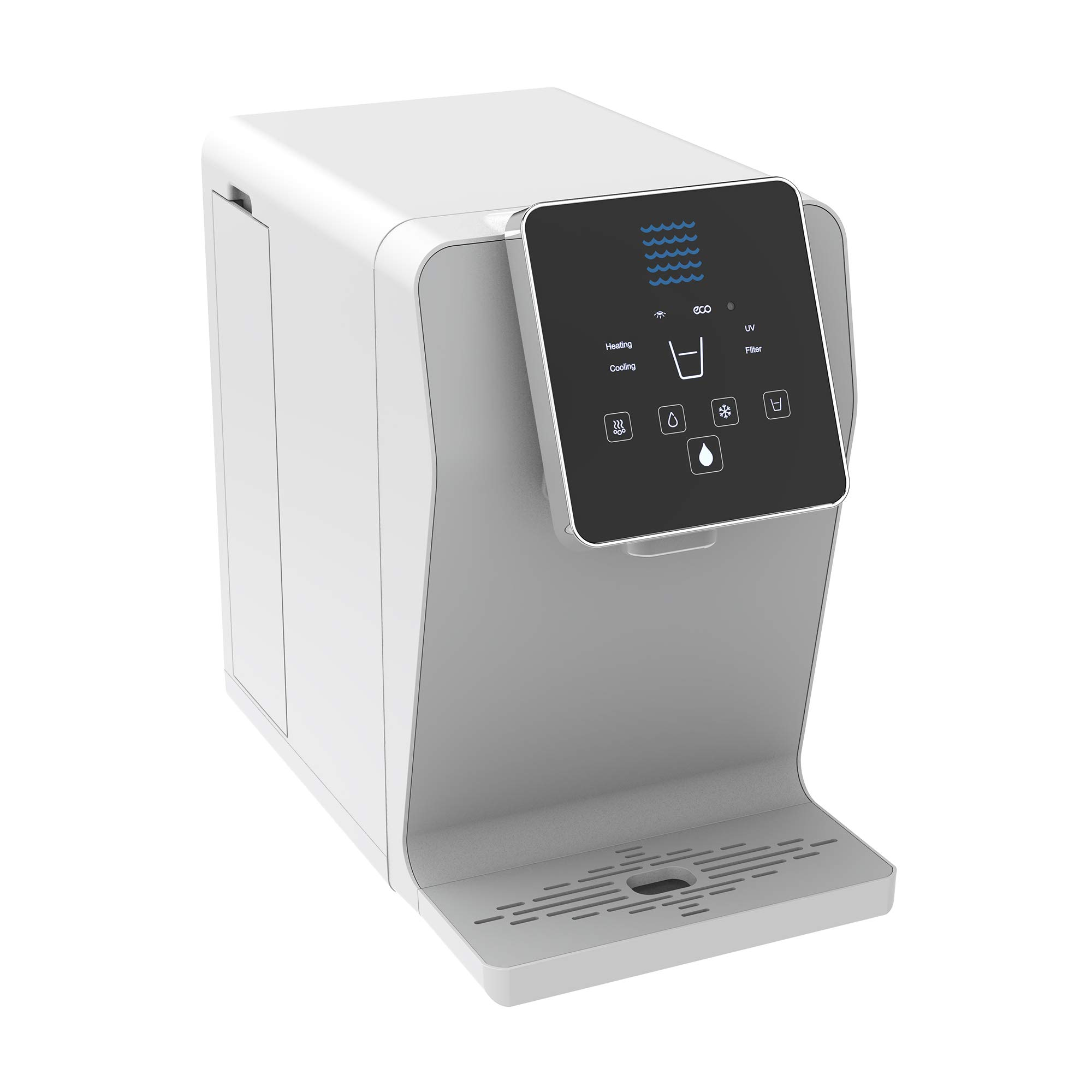 Bottleless Countertop Water Dispenser Gen2. Triple Temp Settings - Ambient Hot and Cold Water Dispenser, Touch Control Dispense, UltraVi Technology +Multi-Stage Bottleless Water Cooler Filtration System- UL / Energy Star Approved.