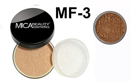 Mica Beauty Natural Mineral Makeup Loose Powder Foundation MF3 Toffee 9g Sample Travel Size 2.5g Loose Powder Foundation