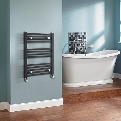 Hudson Reed Radiador para toallas de baño diseño compacto en gris/700 mm x 500