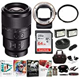 Sony FE 90mm f/2.8-22 Macro G OSS Lens with LAEA3 A-Mount Adapter Bundle