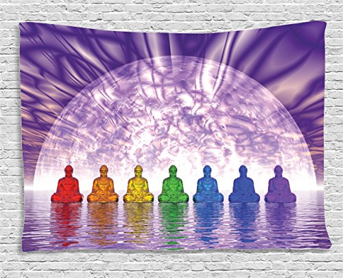 Ambesonne Collection Colorful Meditation Tapestry