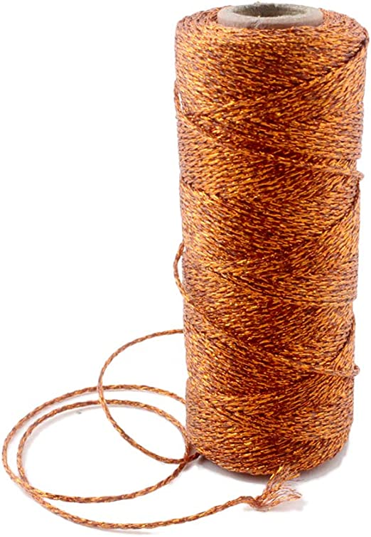 SOLID SILVER METALLIC Bakers Twine CHOOSE AMOUNT Craft String-Gift Wrap