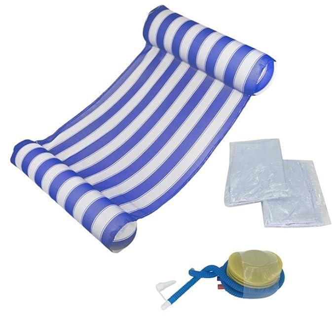 Amazon.com: Colchón hinchable de aire para natación ...