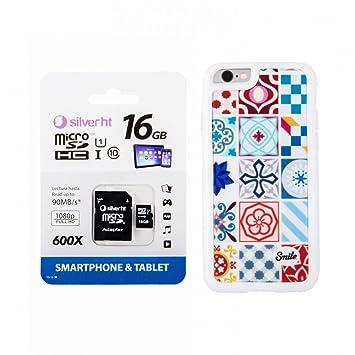 Tarjeta de Memoria MicroSDHC 16GB class10 + Funda Ceramic Modernism Smile para Huawei P9 Lite