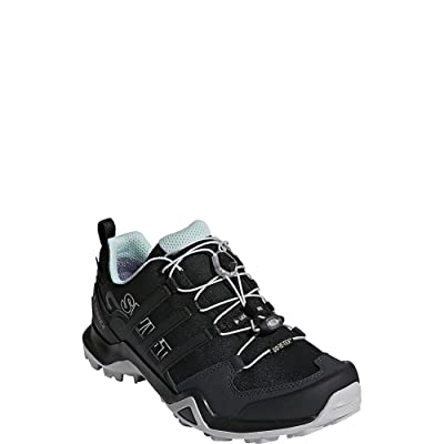 adidas Outdoor Terrex Swift R2 GTX Womens Hiking Boots, (Black & Ash Green), Size 7.5 | Road Running