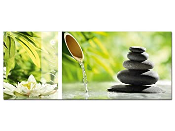 Wandbild Glasbild Acrylglasbild für Badezimmer Spruch Wellness ...