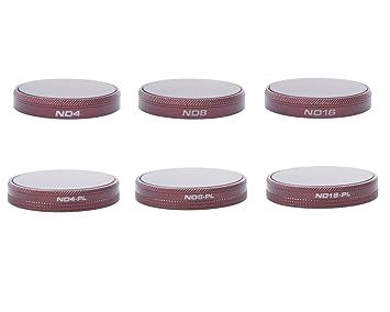 SKYREAT - Juego de filtros para Autel EVO (6 Unidades, ND4, ND8 ...