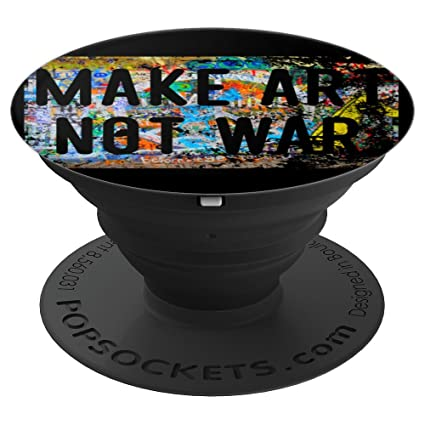 Amazon.com: Make Art Not War Peace Graffiti Hippy ...
