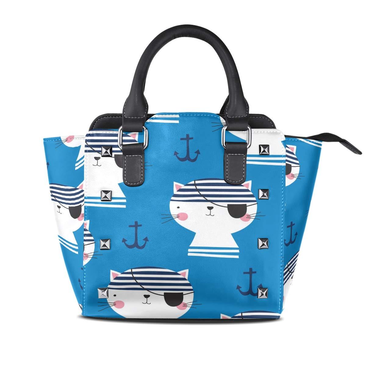 Design3 Handbag Cute Orangutan Genuine Leather Tote Rivet Bag Shoulder Strap Top Handle Women