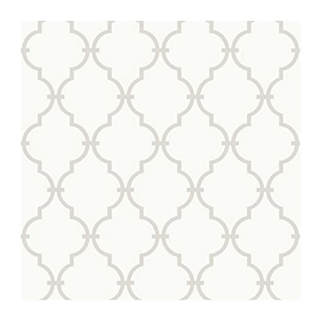 york wallcoverings ys9102 peek a boo graphic trellis wallpaper whitesoft taupe - Trellis Wall Paper