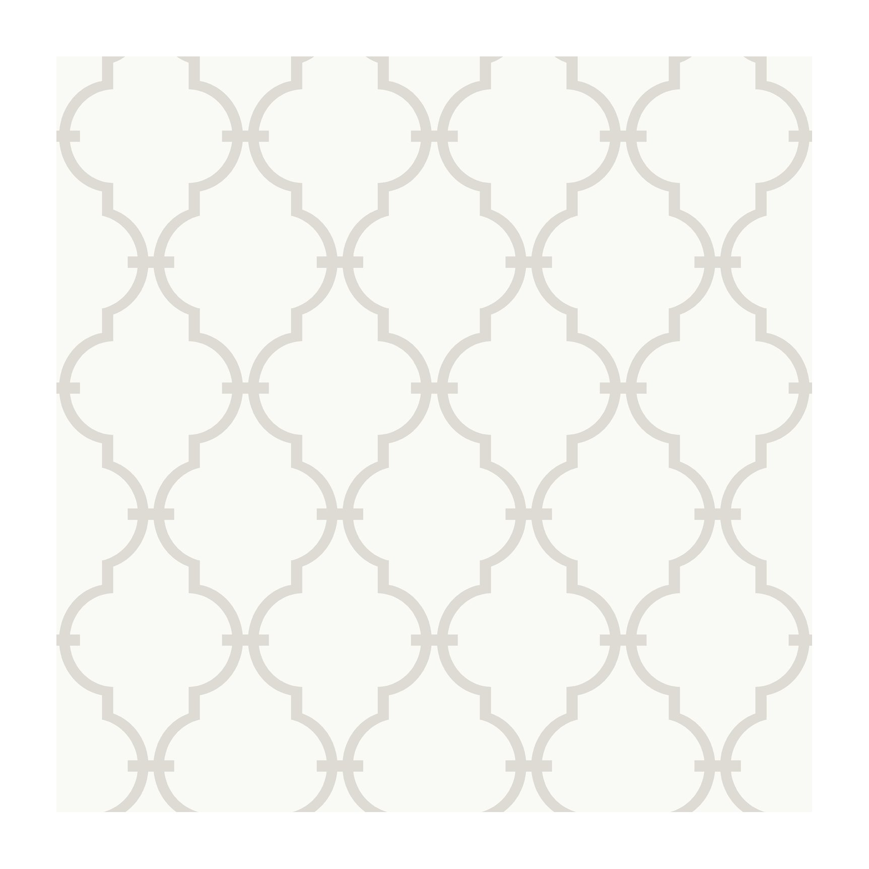 York Wallcoverings YS9102 Peek-A-Boo Graphic Trellis Wallpaper, White/Soft Taupe Grey - Ultra Removable by York Wallcoverings