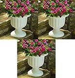 Cheap Novelty Mfg # 38192 19″ White Classic Plastic Porch Urn / Planters – Quantity 3
