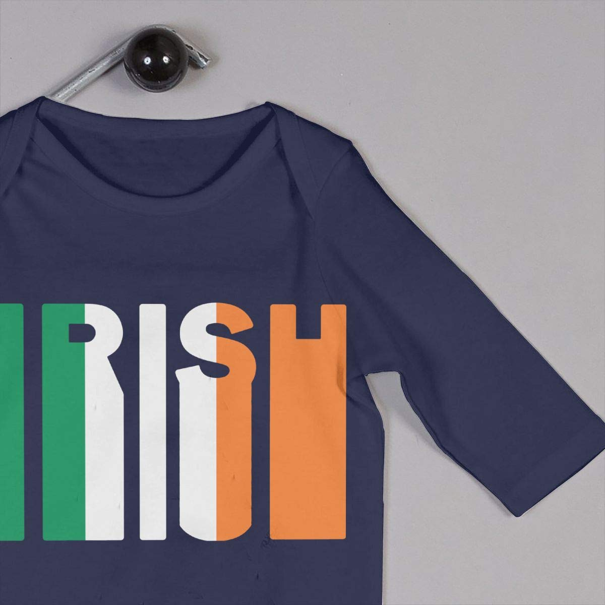 LBJQ8 Retro Irish Flag Toddler Baby Girls Organic Cotton Bodysuit Sleepwear