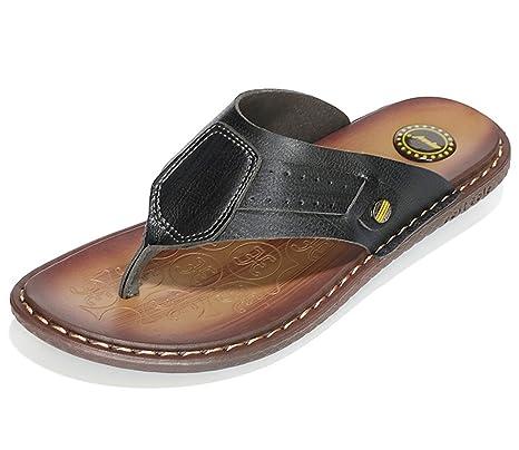 da07d351d6acaf Men s slippers Classics Summer Shoes Quality Split Leather Sandals For Men  Comfortable Flip Flops Men Beach