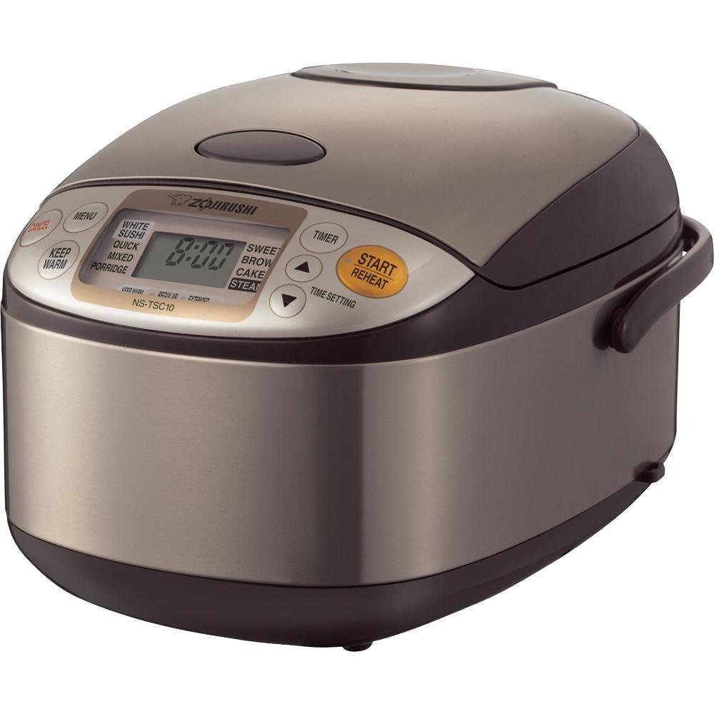 $180(was $240) Zojirushi NS-TSC10 Micom Rice Cooker and Warmer, 5.5 cups, Uncooked, Stainless Brown