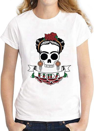 Rcdxing sudaderas con capucha Frida Kahlo estampado de manga corta ...