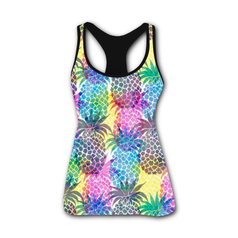 Pineapple Art 3D Print Casual Custom Sleeveless Tanks Vest Top Women Girl S