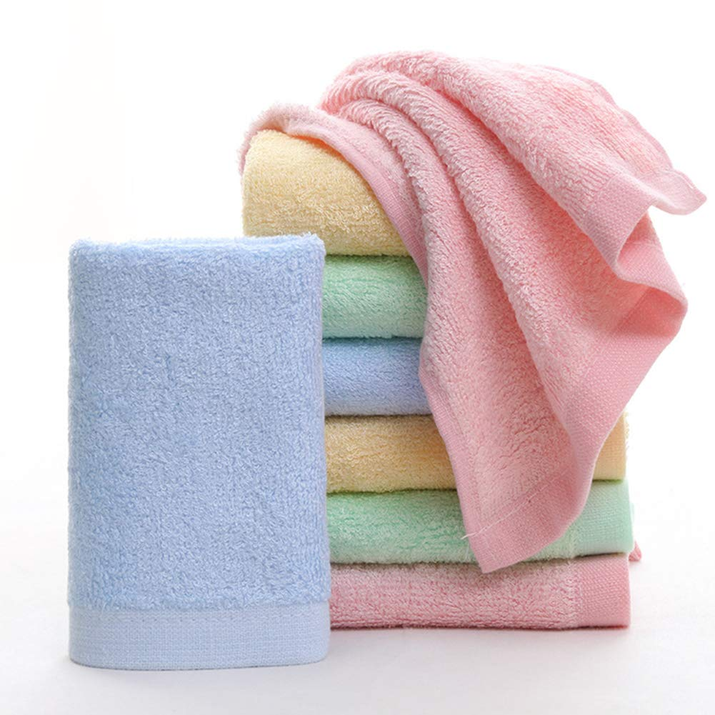 MUKIN Baby Bamboo Washcloths, Baby Face Towels - Extra Soft For Newborn/Infant/Kids/Adults - Ultra Soft For Baby Registry as Shower Gift Set,12x12inch. (12 Pack.) by Mukin