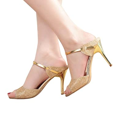 a772d284250a Amazon.com  DENER Women Ladies High Heels Sandals