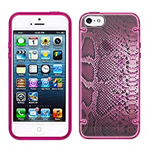 iPhone 5C Pink Snake Skin See Through Case with Glow Pink Trim