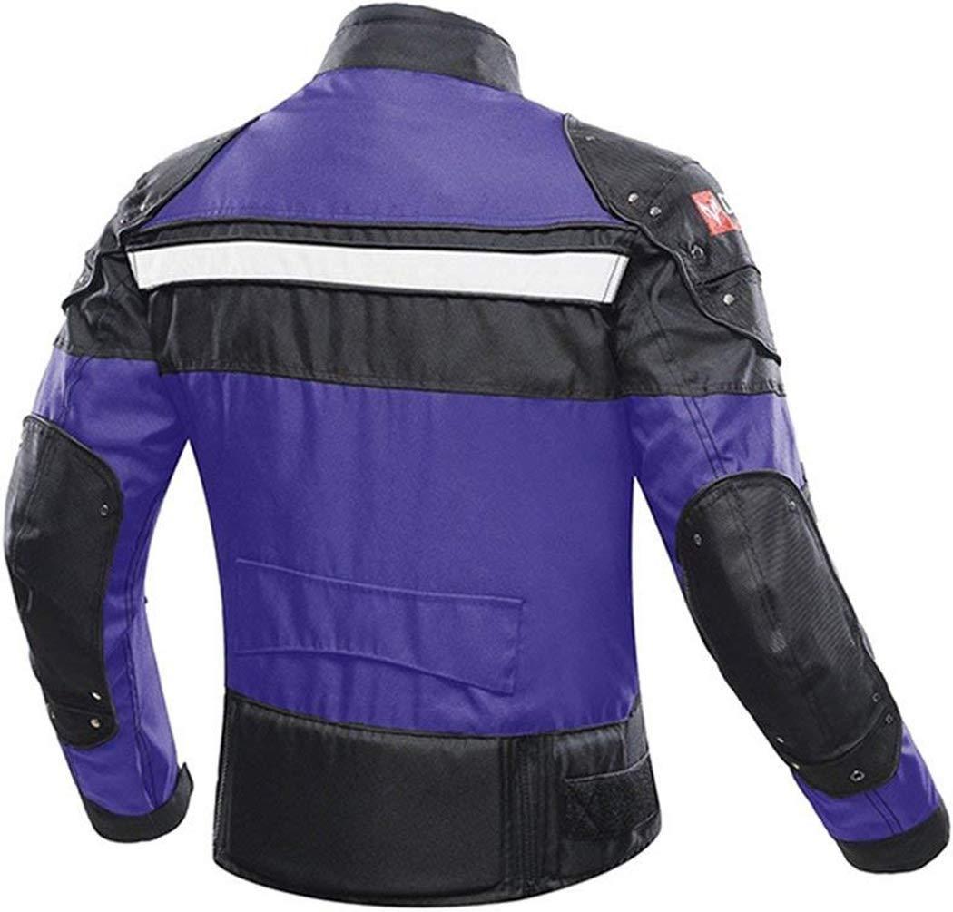 Veste de Moto Blouson Moto Homme Sport avec Armure pour lautomne Hiver Red, XL
