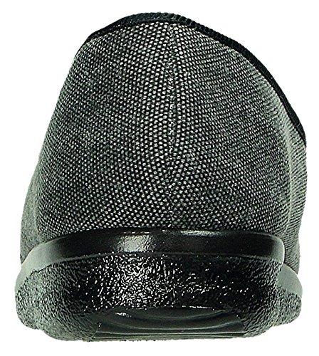 68bd2eb52e0f Fly Flot Men s Slippers Black Black Black Size  9 UK  Amazon.co.uk  Shoes    Bags