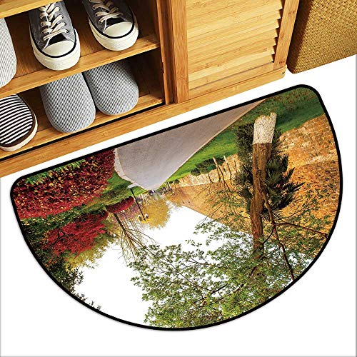 TableCovers&Home Semicircle Doorway Mat The City wof The m Dynasty in n j Taken n j xu wu Lake Park Durable and Resistant to Soiling W35xH23 INCH