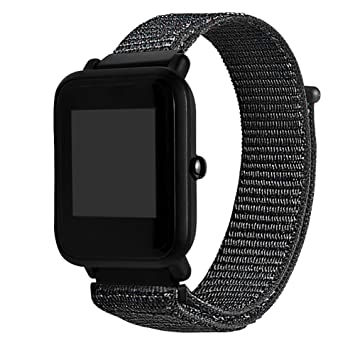 Correa de repuesto elegante para reloj Xiaomi Huami Amazfit Bip de Y56, de nailon, 230 mm, varios colores, D: Amazon.es: Deportes y aire libre