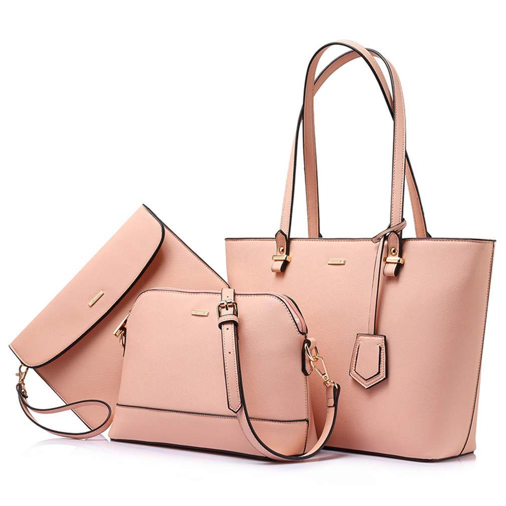 3Sets Handbag Women Composite Female Tote Fashion Shoulder Crossbody Bag Purse
