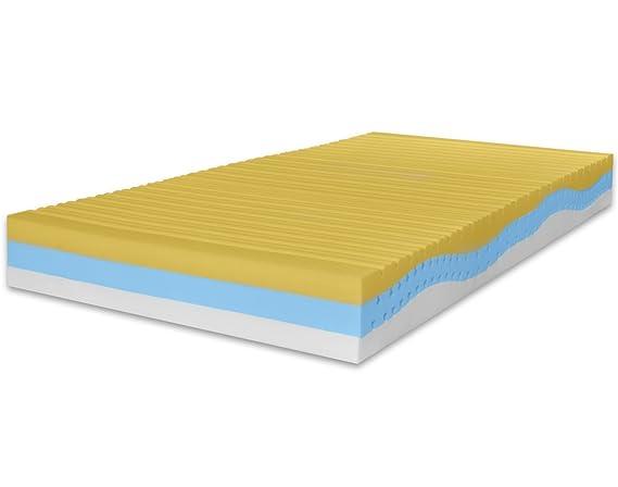 Marcapiuma - Colchón viscoelástico Individual Memory 120x200 Alto 23 cm - Onda Med - firmeza H2 Medio 11 Zonas - Producto Sanitario CE - Funda desenfundable ...