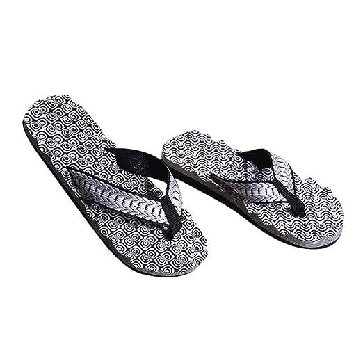 ddbe028ba98c Amazon.com  Men Male Comfortable Massage Flip Flops Shoes
