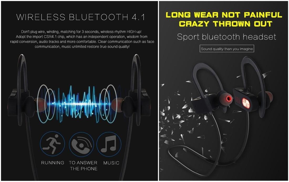 Joyeer Auricular de gancho de oído Bluetooth con micrófono auriculares de música de deporte profesional inalámbrico a prueba de sudor cancelación de ruido ...