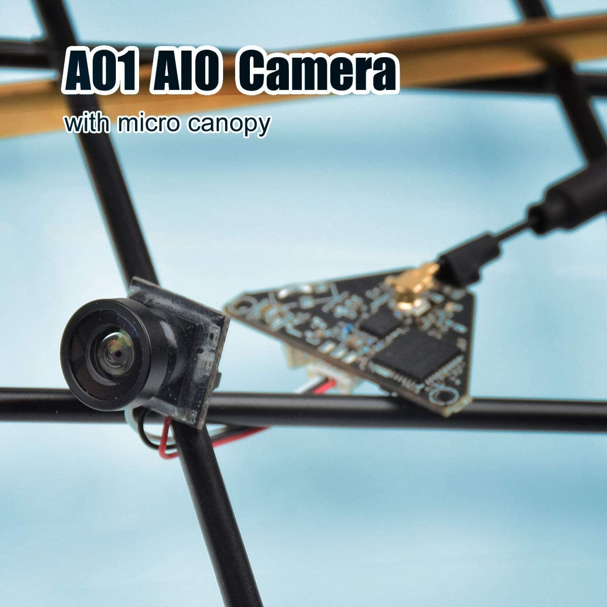 BETAFPV A01 AIO Camera 5.8GHz VTX Transmitter 800TVL NTSC//PAL OSD SmartAudio for 2-4S Tiny Whoop Drone Pin-Connected Version