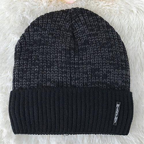 Black engrosada invierno Color negro MASTER encapuchados Halloween tapas sombreros cálido Men sombreros sombrero EXTERIOR de Navidad tejidos sombreros beanie UHqgf