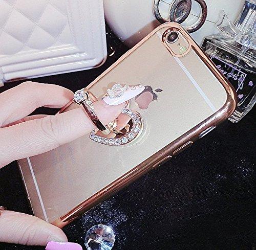 Cheap iPhone 6/6S Case,Aroko(TM) Beauty Luxury Diamond Hybrid Glitter Bling hard Shiny Sparkling wit...