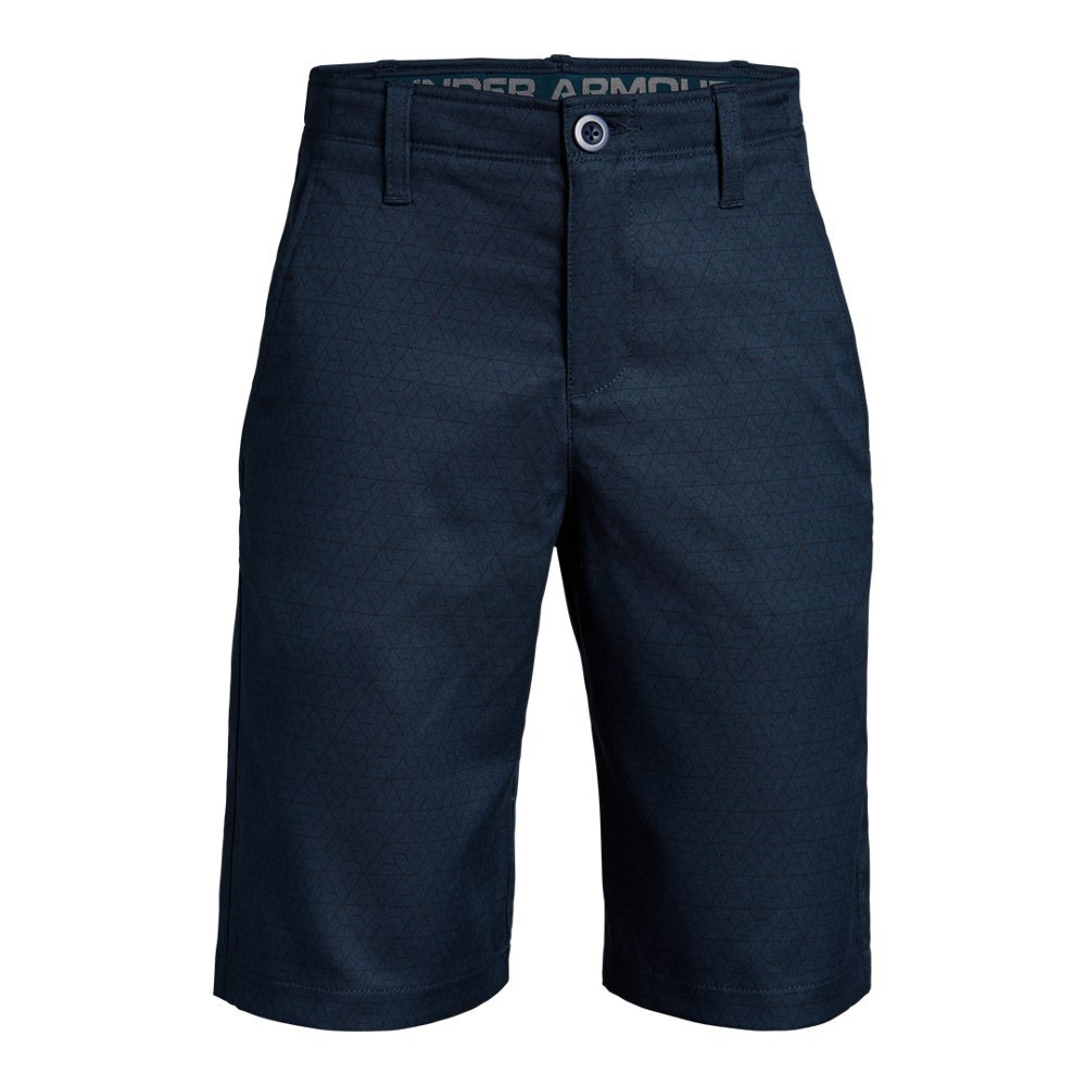 Under Armour Boys' Match Play Printed Shorts, Academy (410)/Academy,10