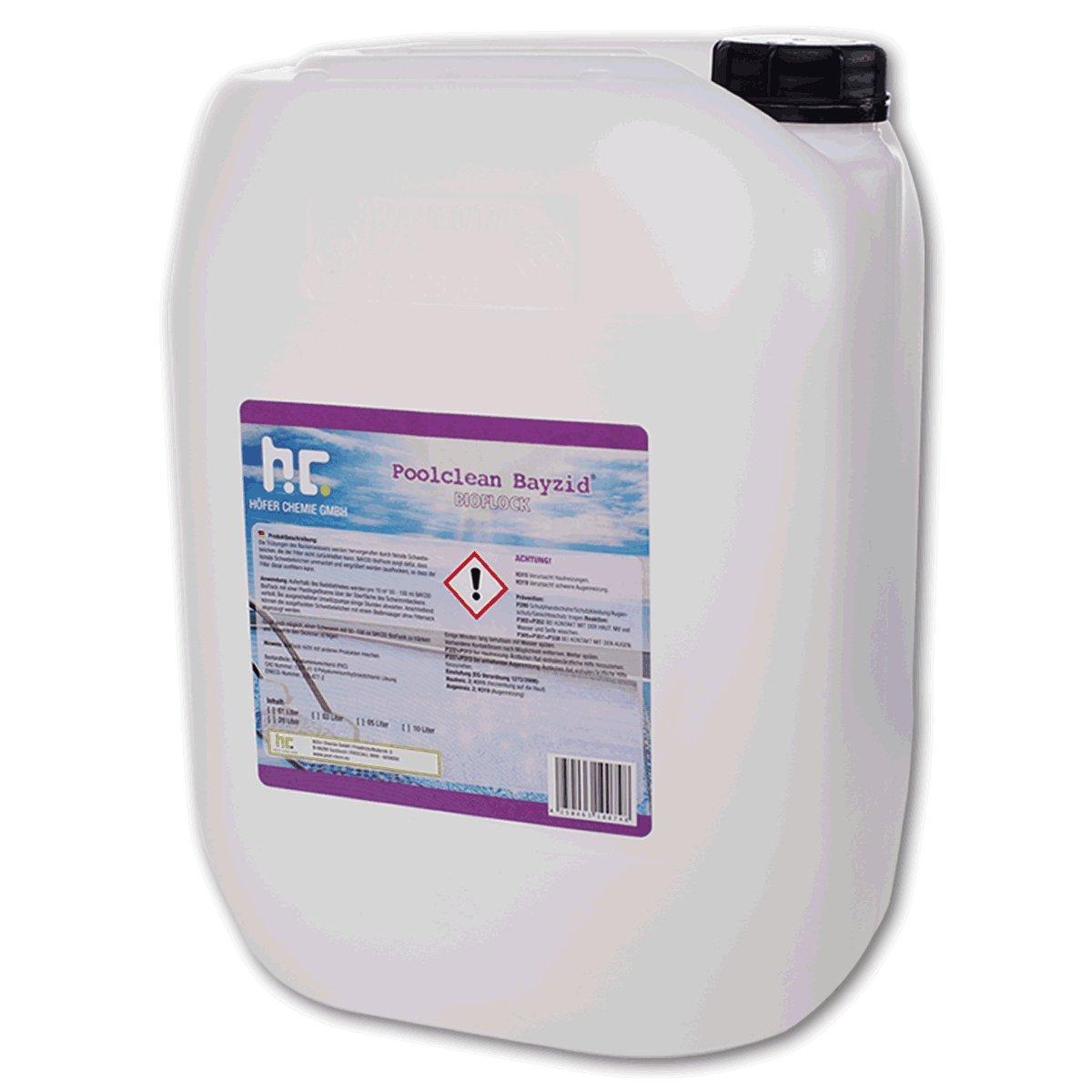Höfer Chemie 2 x 20 L Pool Flockungsmittel flüssig BAYZID kristallklares Poolwasser - einfache Anwendung + hocheffektive Wirkung gegen Trübungen Höfer Chemie GmbH