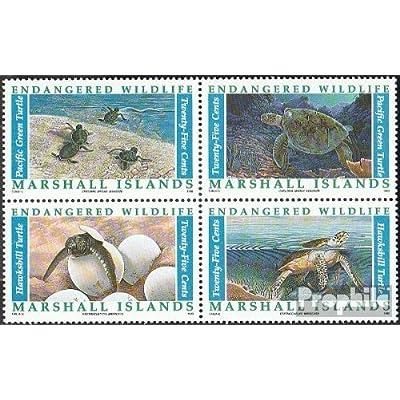 marshall-îles 298-301 bloc de quatre (complète.Edition.) 1990 en danger Animaux (Timbres pour les collectionneurs)