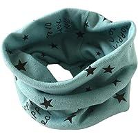 Tongshi Otoño Invierno Niños Niñas collar bebé de la bufanda del algodón O Ring Pañuelos(Verde)