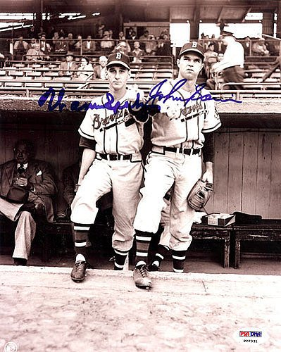 - Warren Spahn & John Sain Signed 8x10 Photograph - Certified Genuine Autograph By PSA/DNA - Autographed Photo