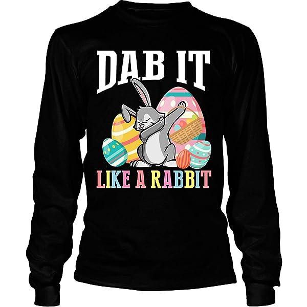 Dab It Like A Rabbit T Shirt Easter Eggs T Shirt Tees