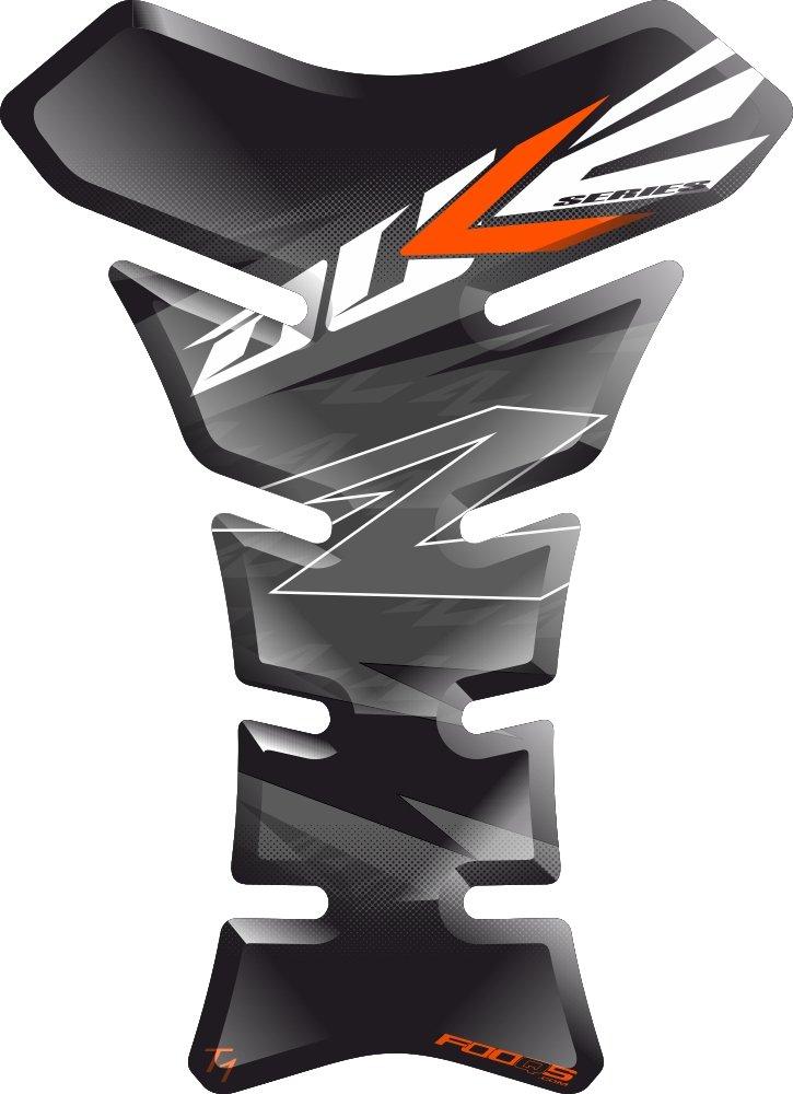 Motorrad Gas Displayschutzfolie Aufkleber/3D Gummi Fuel Tank Pad Tankpad Displayschutzfolie Aufkleber fü r KTM Duke 125 250 690 790 1029 (Schwarz) Fooqs